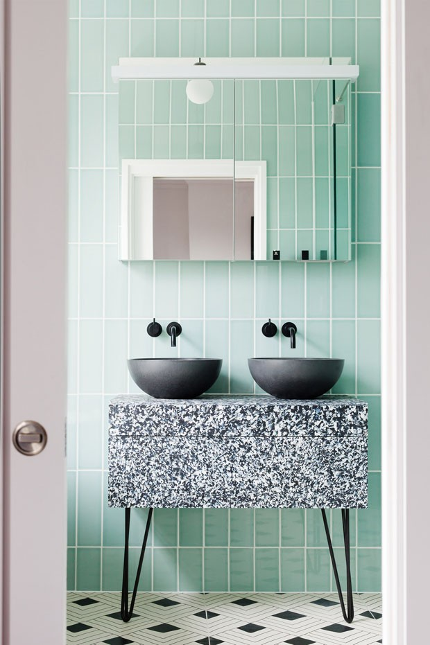 Décor do dia: banheiro verde menta (Foto: Divulgação)