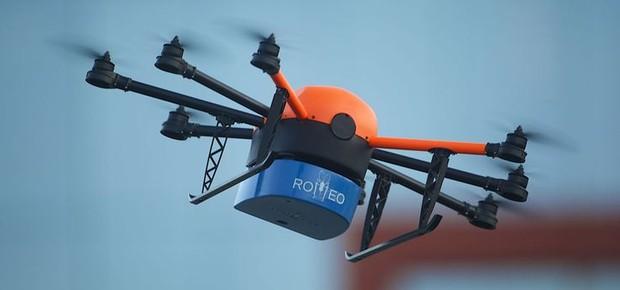ROMEO, drone usado para a liberação de mosquitos estéreis na natureza (Foto: Aiea/ONU/N. Culbert)