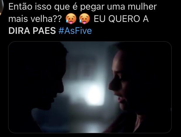 Postagem no Twitter sobre 'As Five' (Foto: Reprodução/ Twitter)