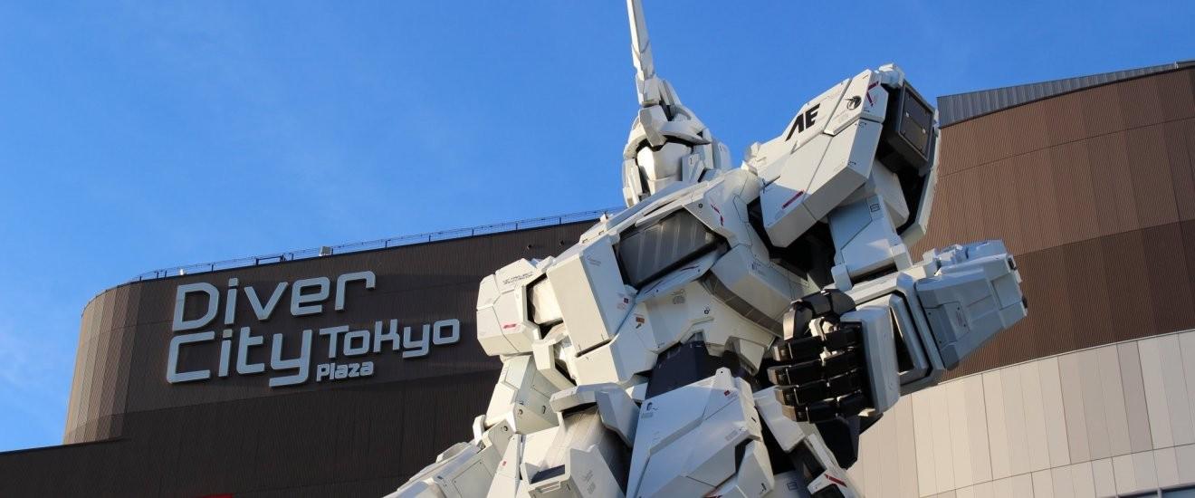 Réplica de robô do desenho 'Gundam Wing' no Japão (Foto: Divulgação)