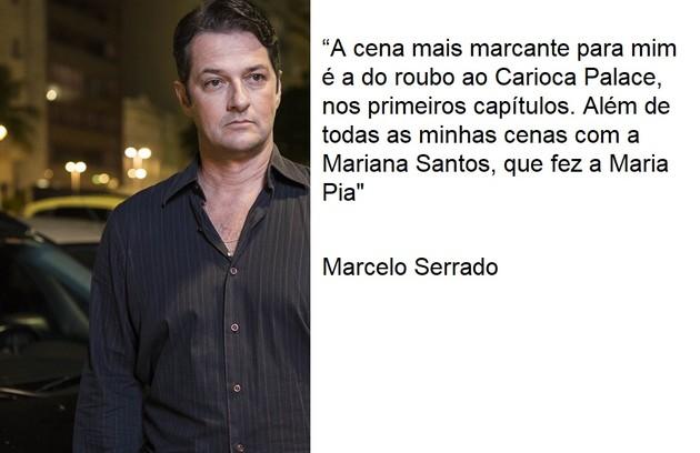 Marcelo Serrado viveu Malagueta  (Foto: TV Globo)