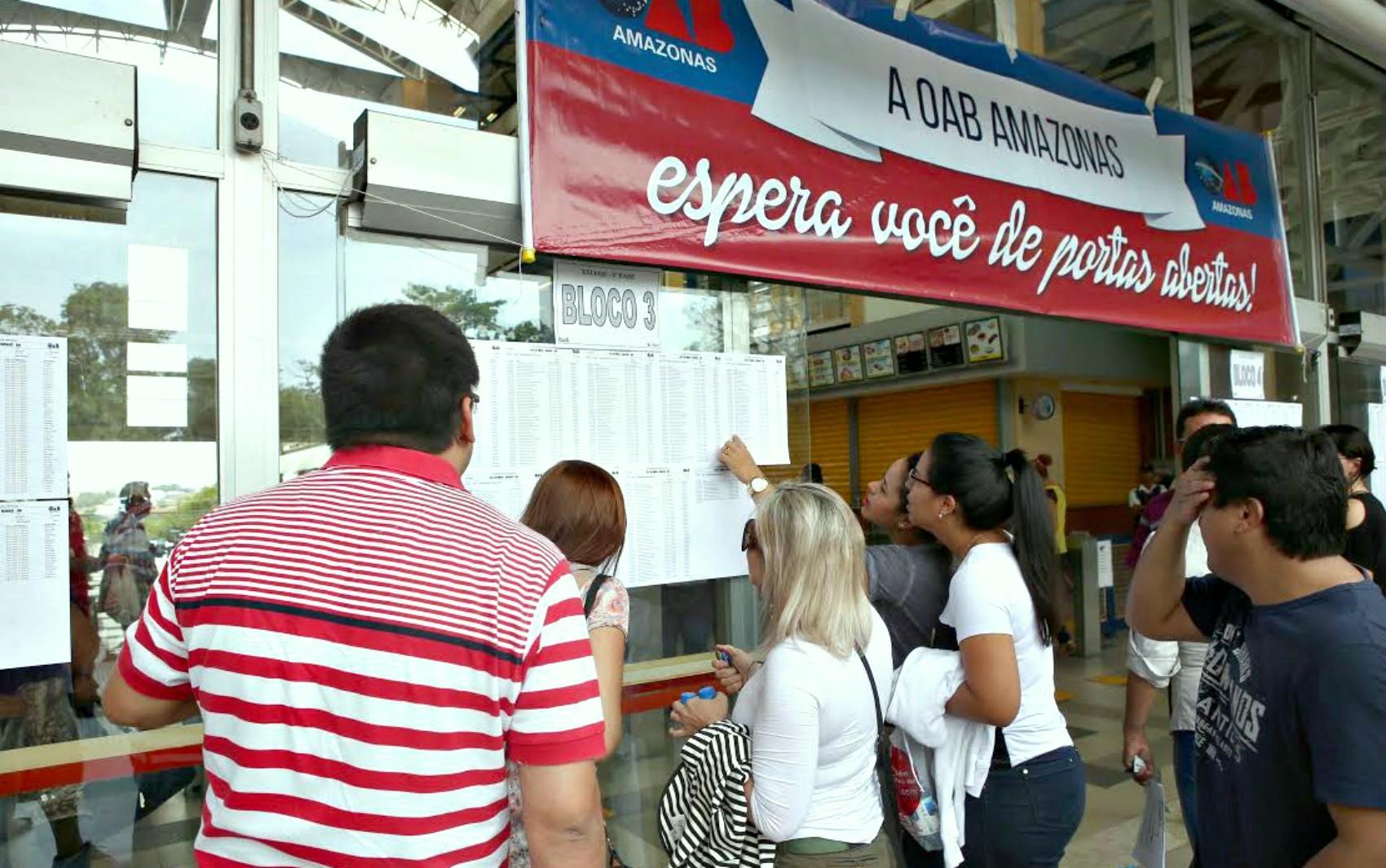 Mais de 2 mil candidatos devem realizar prova da 1ª fase da OAB neste domingo, no AM - Notícias - Plantão Diário