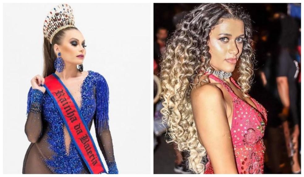 Pérola Negra tem a rainha Samara Carneiro e a princesa Joyce Rocha — Foto: Arquivo Pessoal/Divulgação