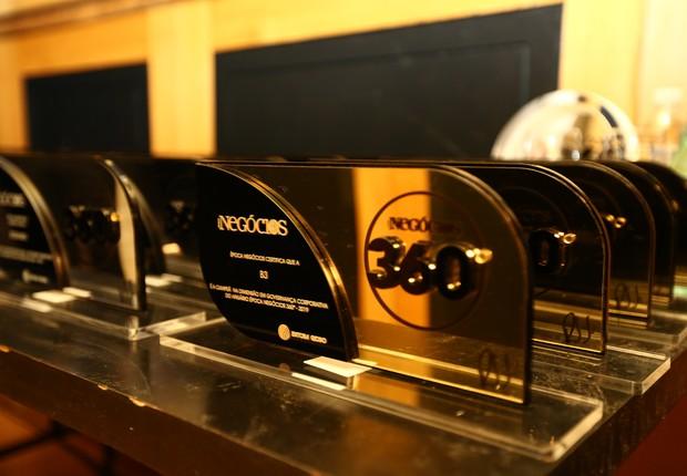 Os troféus do prêmio foram criados pelo designer Ronald Sasson especialmente para o 360° (Foto: Alexandre DiPaula / Época NEGÓCIOS)