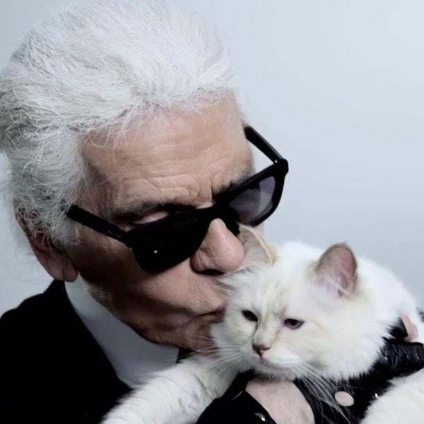 Karl e Choupette (Foto: Reprodução/ Instagram)