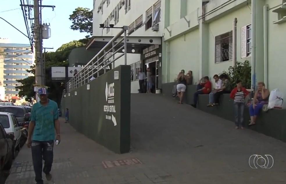 Hospital Araújo Jorge em Goiânia — Foto: Reprodução/TV Anhanguera
