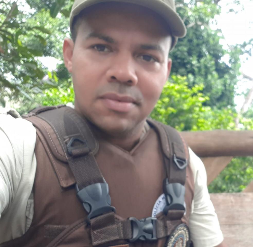 Policial militar que disparou tiros para cima na região do Farol da Barra, em Salvador era lotado na 72ª CIPM — Foto: Reprodução / Redes Sociais