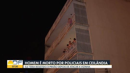 Homem morto pela polícia do DF em prédio de Ceilândia reagiu à prisão, diz delegado