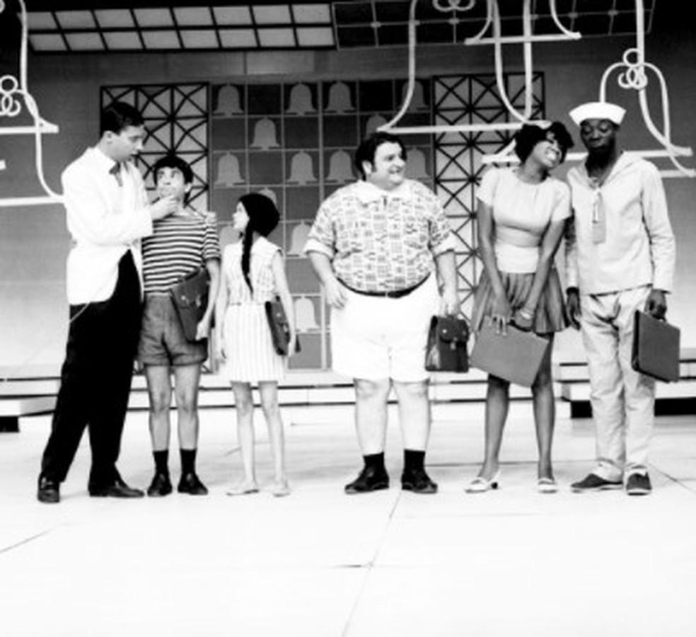 TV 0 - TV1: Marina Miranda com Paulo Silvino e Tião Macalé — Foto: Memória Globo