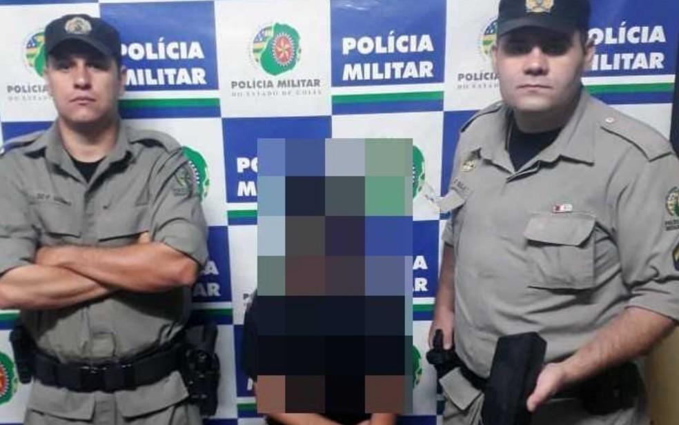 Políca Militar apreende criança de 12 anos suspeita de ato infracional análogo ao tráfico — Foto: Divulgação/SSP