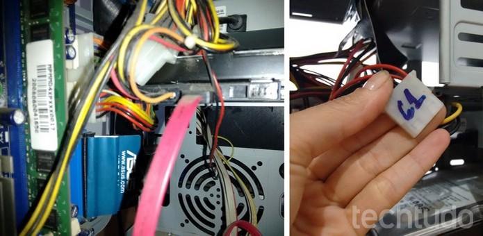 Identificação de cabos do PC (Foto: Raquel Freire/TechTudo)