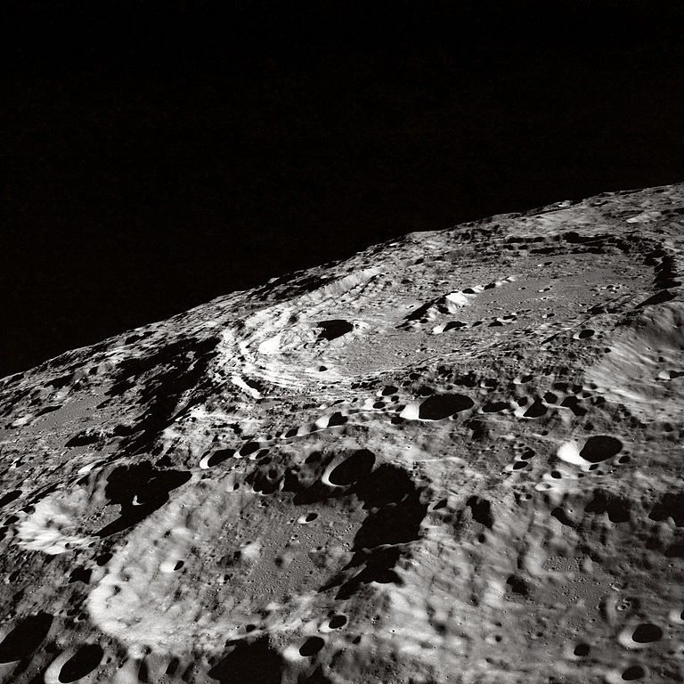 Superfície da Lua (Foto: NASA Apollo/Wikimedia Commons)