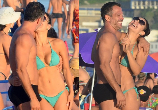 Malvino Salvador e Kyra Gracie (Foto: Webert Belicio/AgNews)