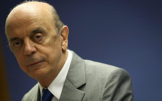 José Serra foi um dos articuladores da entrada do PSDB no governo Temer, mas deixou o Ministério das Relações Exteriores alegando dores na coluna (Foto: André Coelho/Agência O Globo)