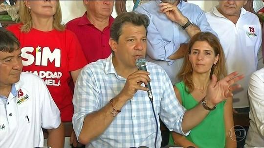 Em campanha no Nordeste, Haddad diz que retomará obras paradas para gerar empregos