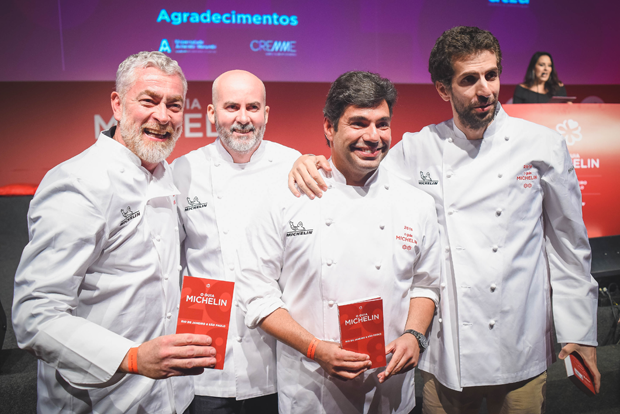 Alex Atala, Geovane Carneiro, Felipe Bronze e Ivan Ralston (Foto: Alexandre Virgílio/Divulgação)