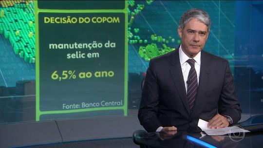 Copom mantém taxa básica de juros em 6,5% ao ano pela nona vez