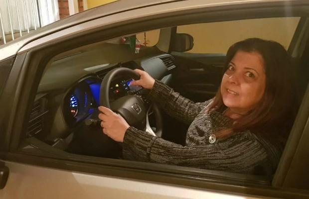 Terezinha Martins, dona de um Honda Fit Personal 2018 (Foto: Arquivo Pessoal)