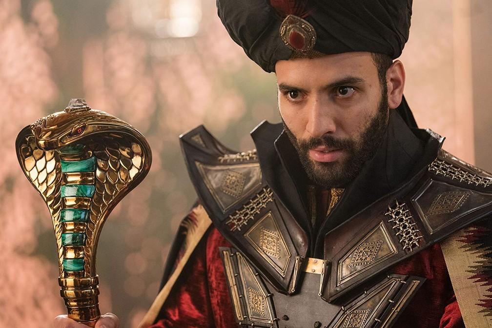 Marwan Kenzari em cena de 'Aladdin' — Foto: Divulgação
