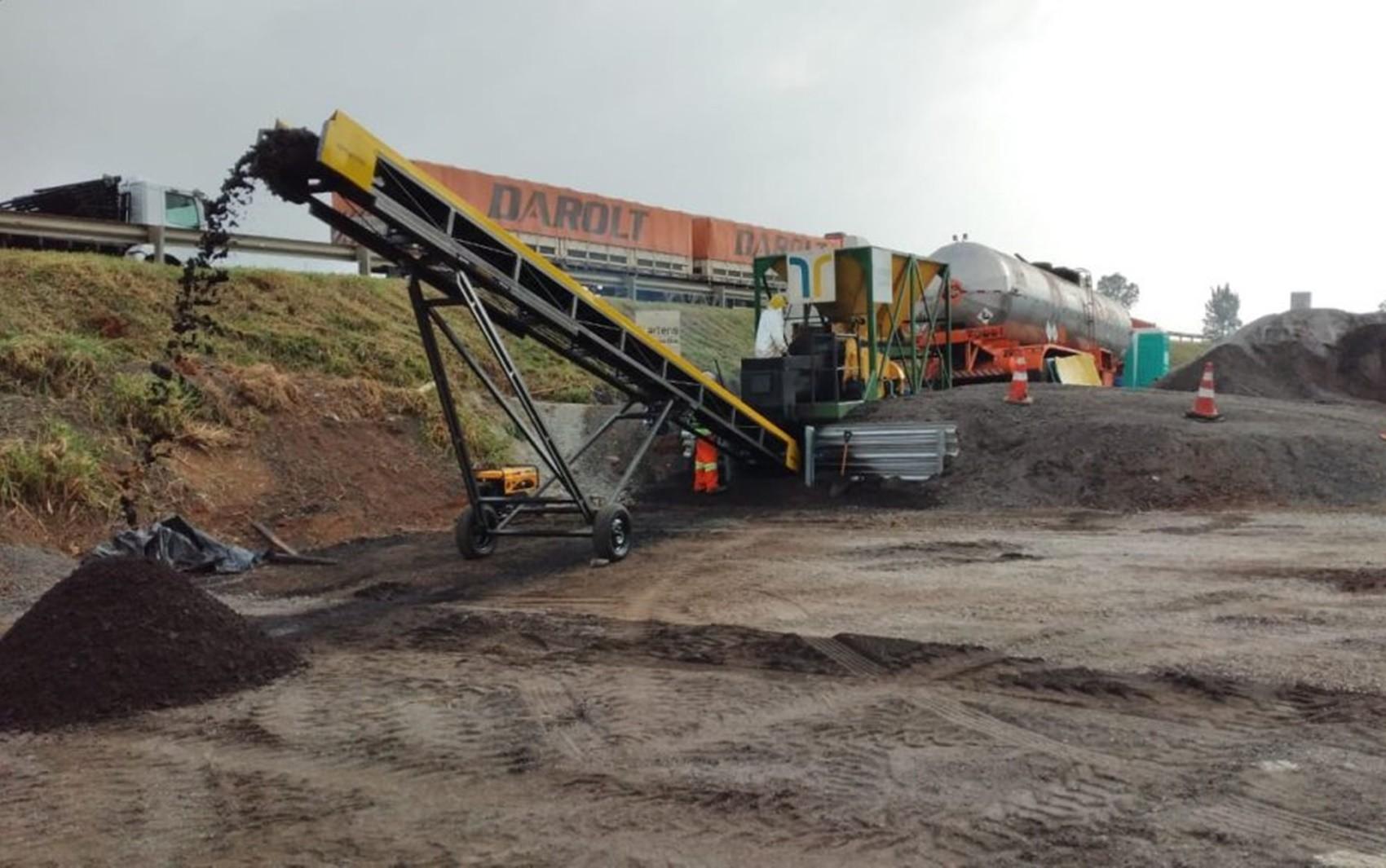 Concessionária conclui recuperação de trecho com uso de asfalto reciclado em São Sebastião da Bela Vista, MG