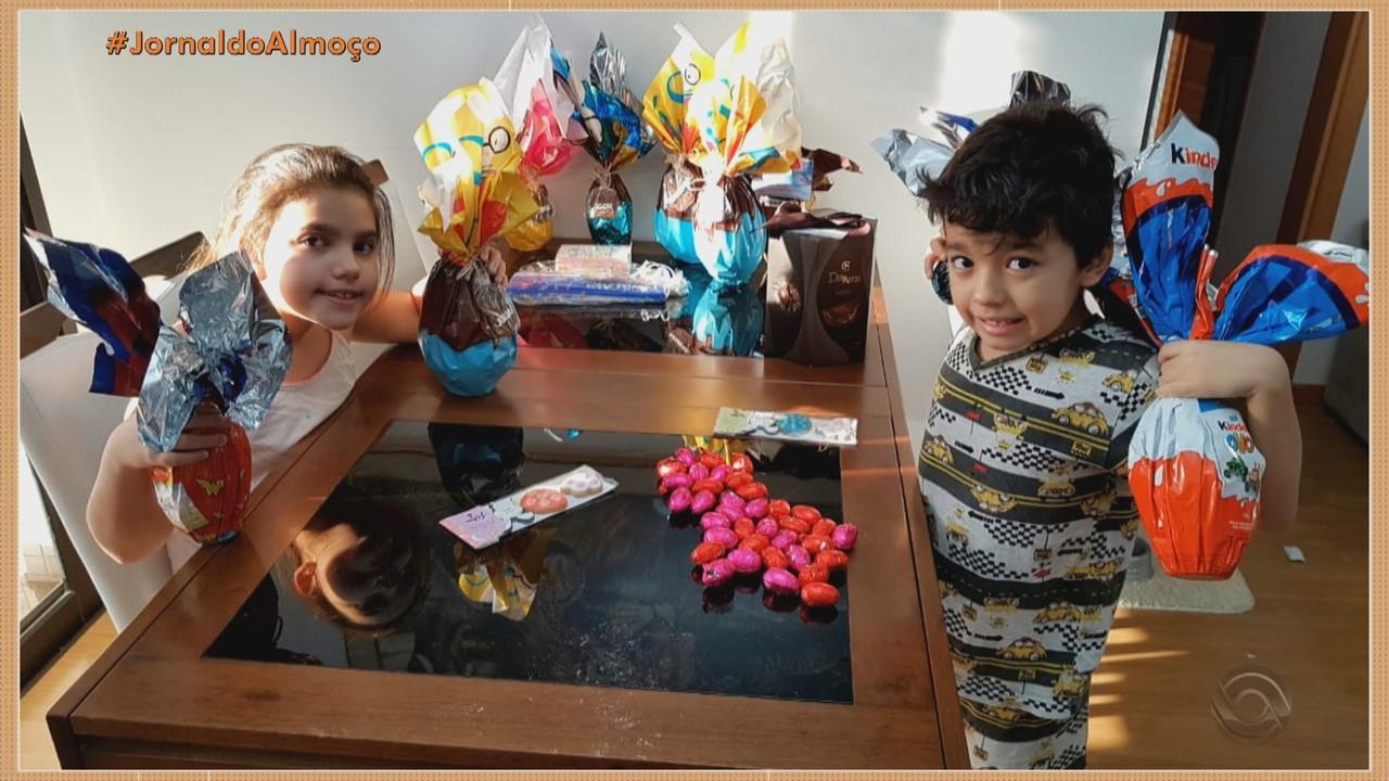 Famílias celebram a páscoa em casa no RS