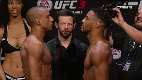 Edson Barboza e Kevin Lee passam pela pesagem do UFC Atlantic City