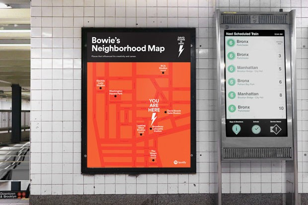 Fotos de David Bowie invadem estação de metrô em Nova York (Foto: Spotify/ Divulgação)