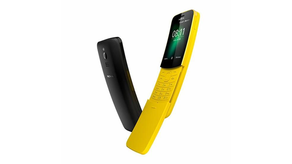 Nokia 8110 é relançado com visual clássico e acesso a apps (Foto: Divulgação/HMD Global)