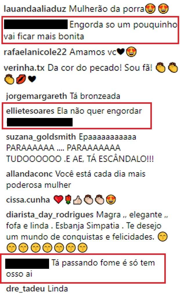 Fãs se dividem entre críticas e elogios à magreza de Luciana Gimenez (Foto: Reprodução/Instagram)