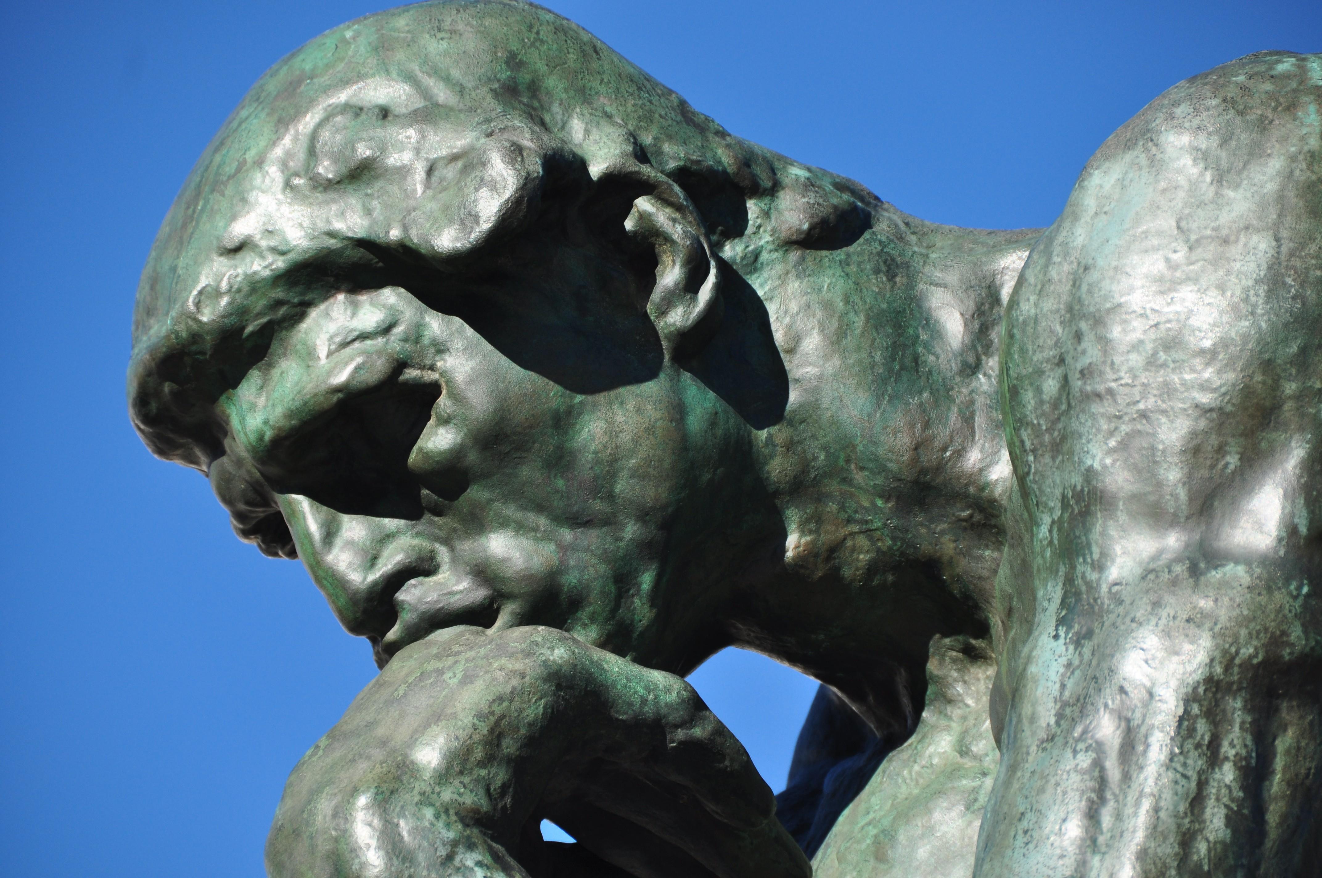 'O Pensador', de Auguste Rodin (Foto: Wikimedia Commons)