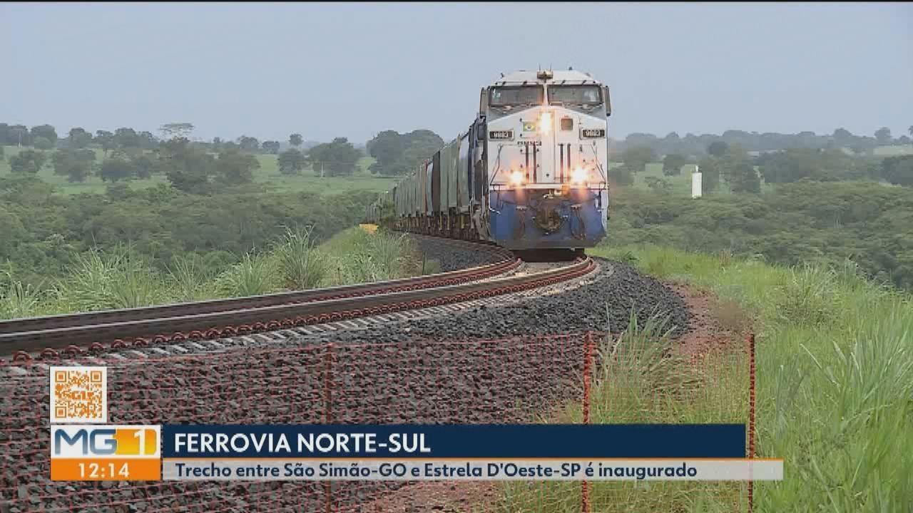 Trecho de ferrovia Norte-Sul é inaugrado com presença do presidente Jair Bolsonaro