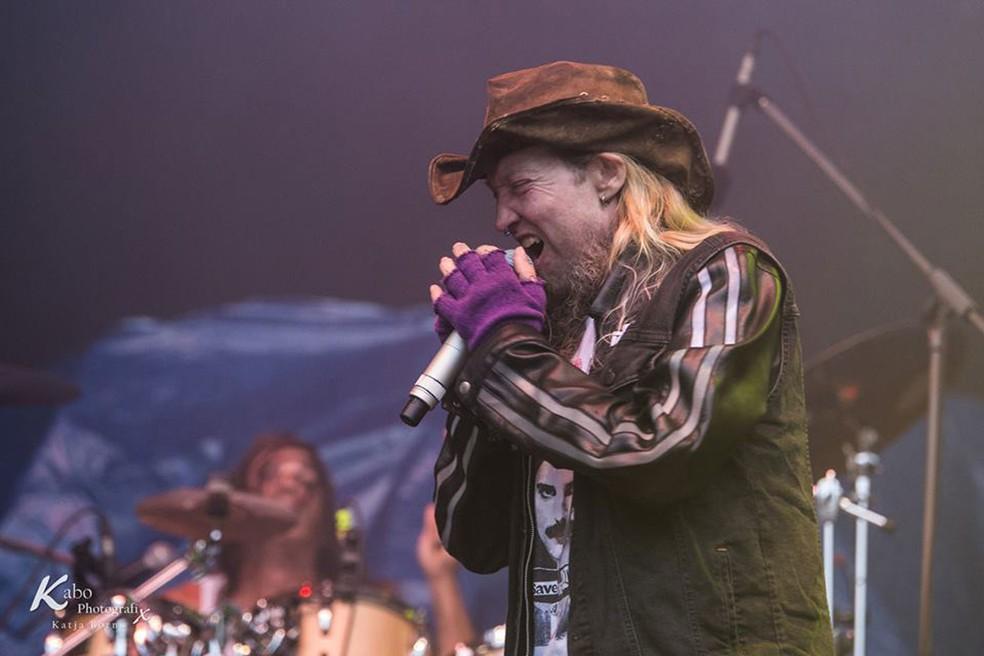O vocalista americano Warrel Dane, das bandas Sanctuary e Nevermore (Foto: Divulgação/Facebook/Sanctuary)
