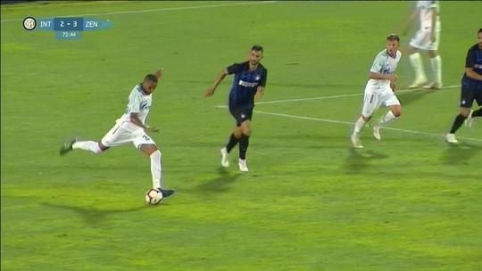 Zenit e Inter de Milão empatam em jogo com golaços e brilho de brasileiro