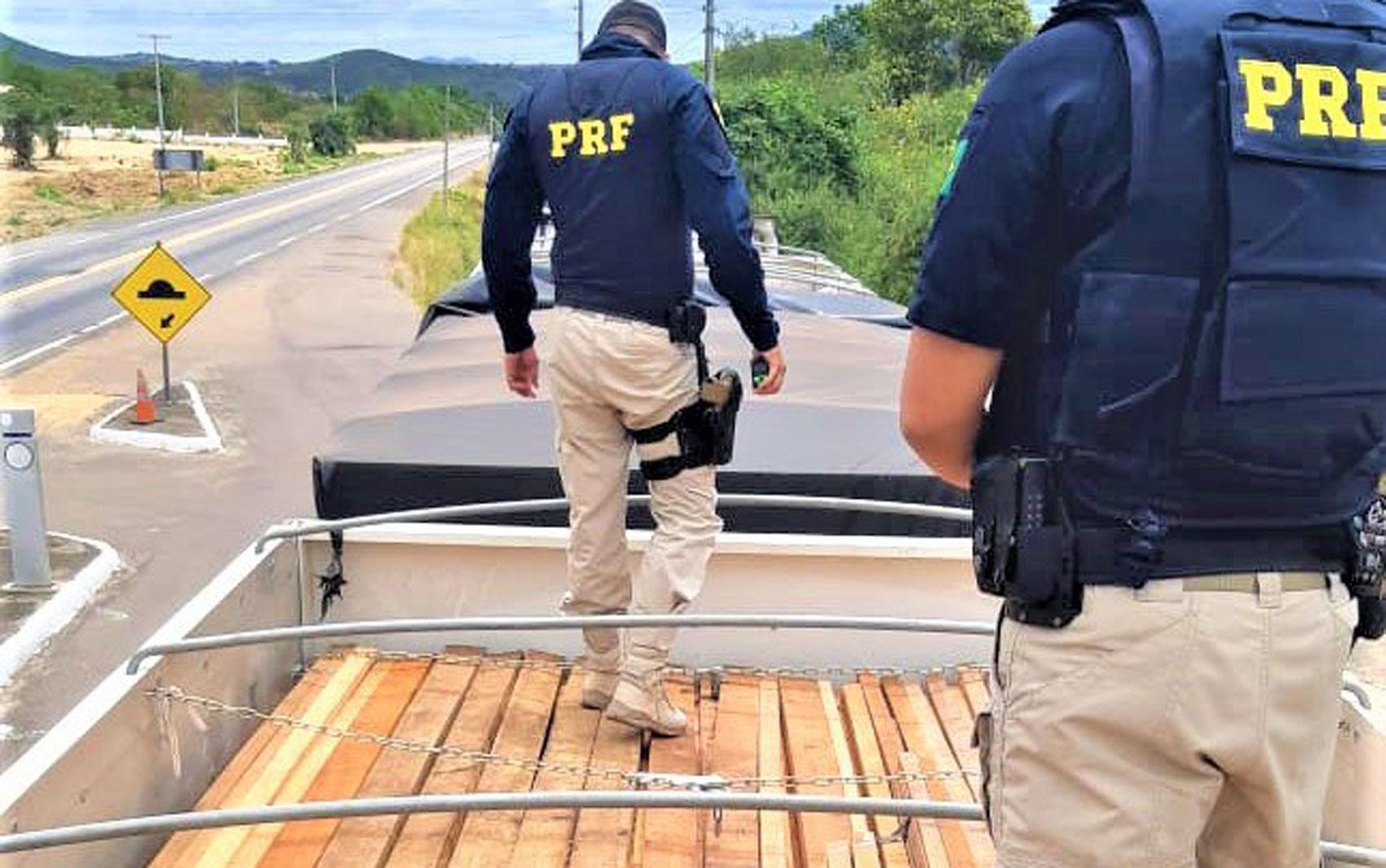 Carga de madeira nativa transportada ilegalmente é apreendida no norte da Bahia