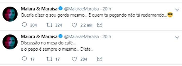 Maiara fala sobre dieta (Foto: Reprodução)