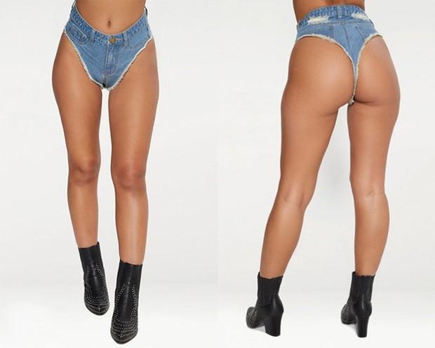 Marca gringa lança calcinha jeans e viraliza na internet (Foto: Divulgação)