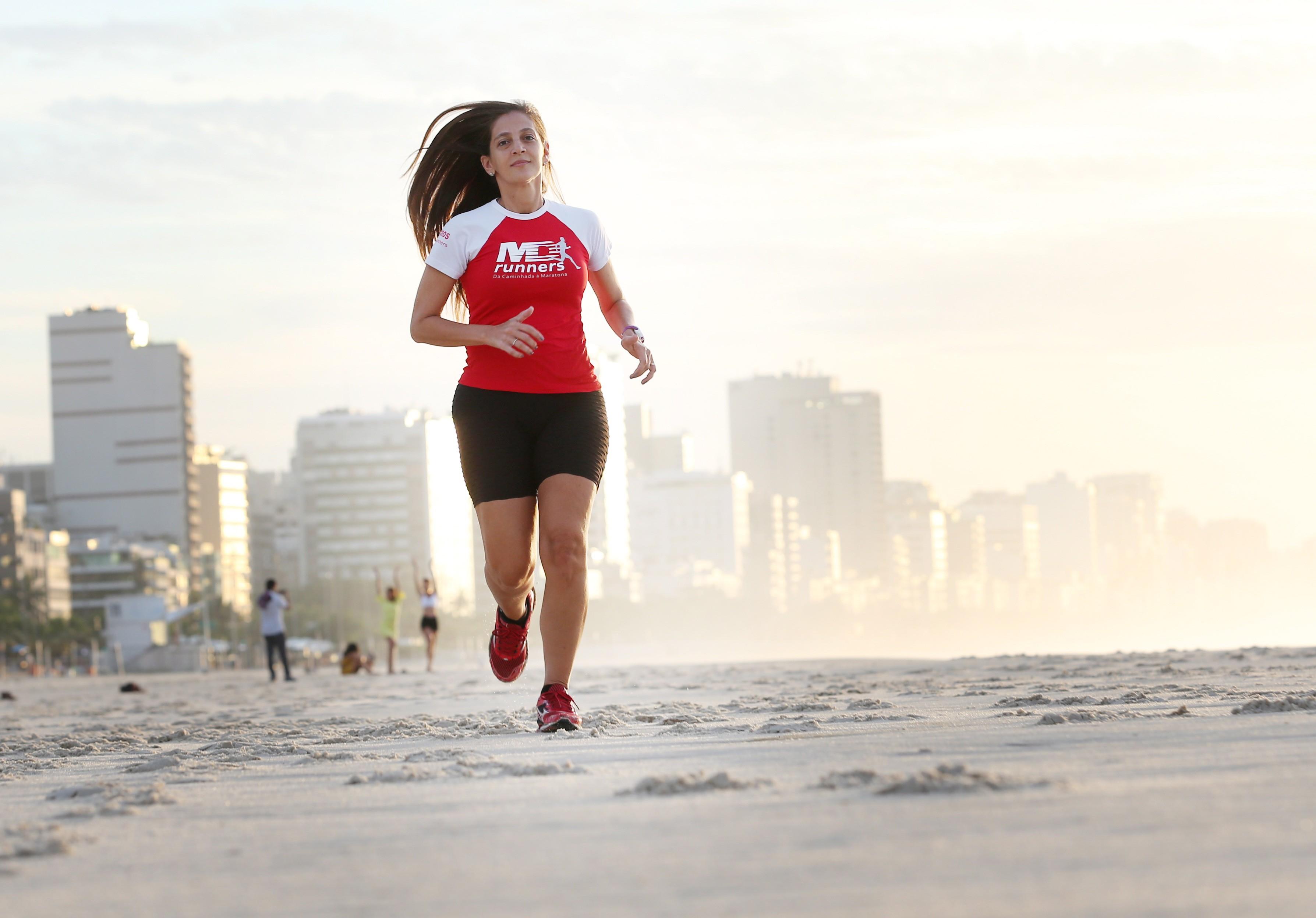 Marielen prefere correr do que malhar em academia de ginástica