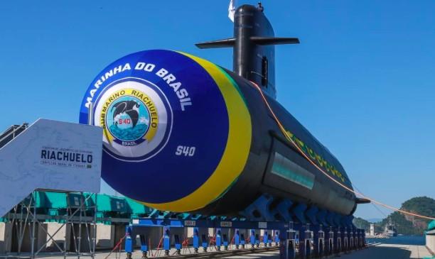 O Riachuelo, primeiro em teste do programa de submarinos convencionais, para o qual a Marinha comprou equipamentos de criptografia da Crypto AG