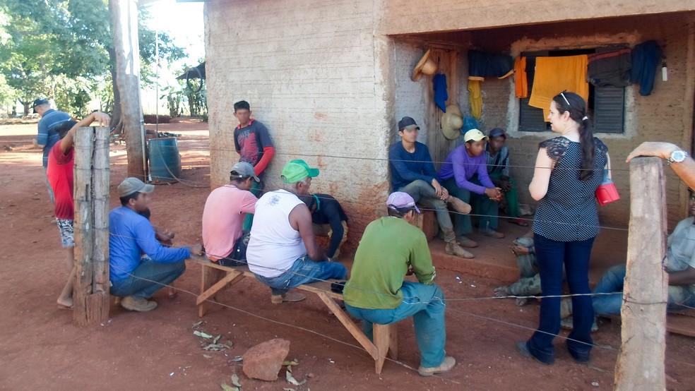 Trabalhadores foram resgatados durante operação realizada no dia  9 de junho pelo MPT (Foto: Ministério do Trabalho/Ascom)
