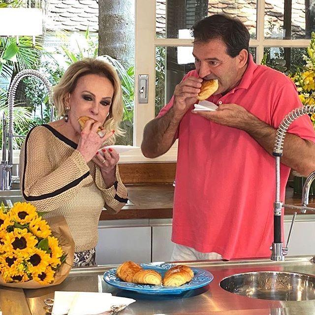 Marido de Ana Maria Braga, Johnny Lucet participa do Mais Você  (Foto: Reprodução/Instagram @redeglobo)