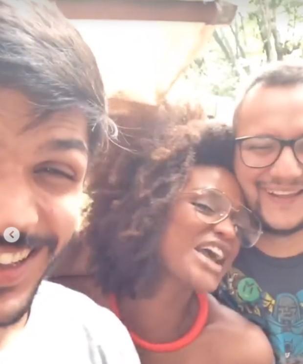 Lucas, Nayara e Diego (Foto: Reprodução / Instagram)