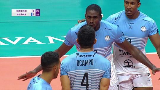3º set: Defesa do Bolivar pega tudo e time argentino pontua 20/22