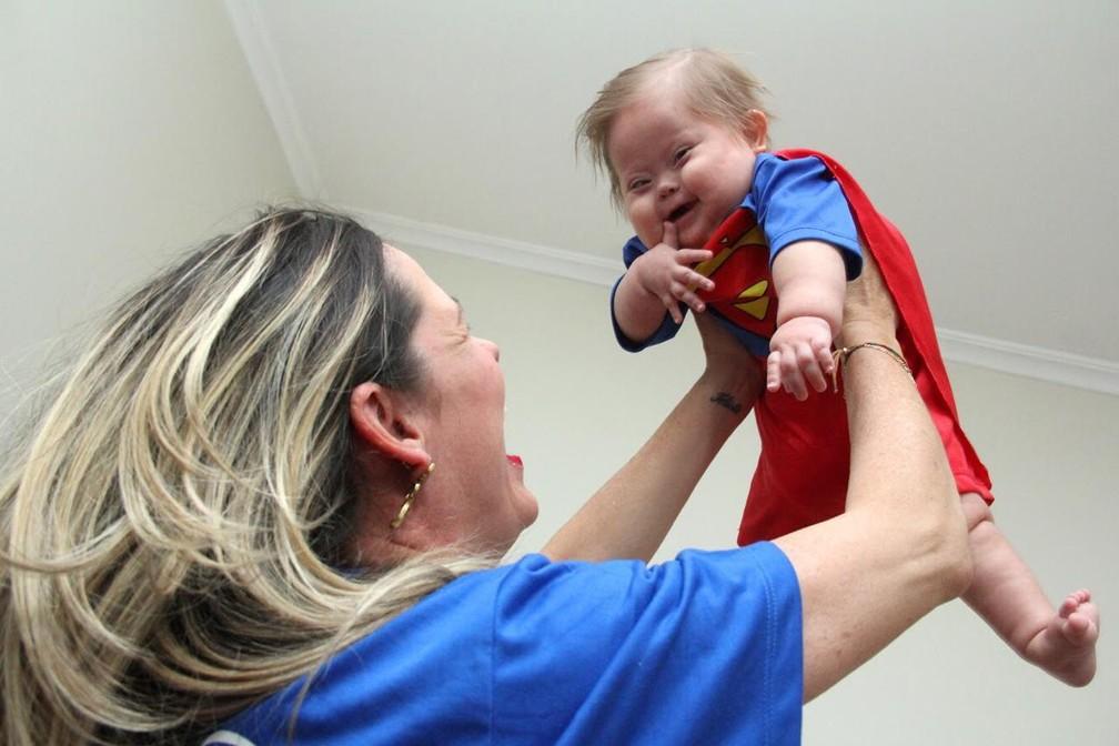 Super Chico ganhou apelido após viver seis meses em hospital de Bauru — Foto: Arquivo pessoal