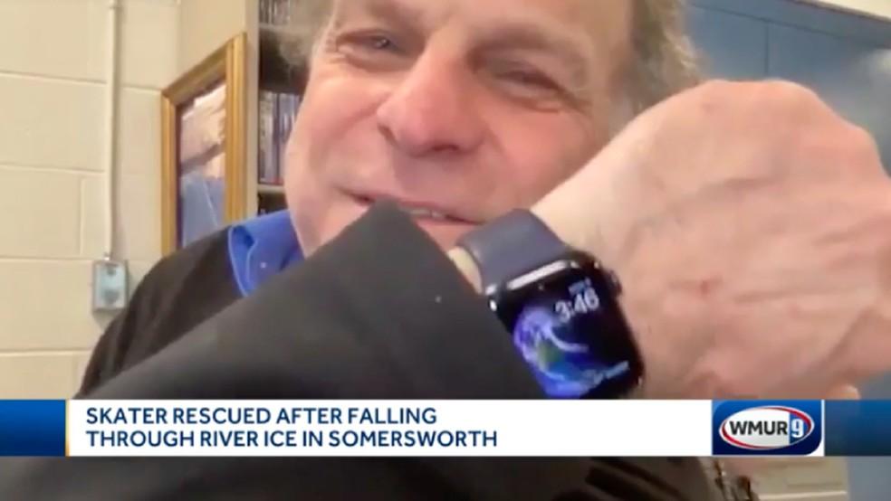Homem pede ajuda e é salvo de afogamento graças a Apple Watch — Foto: Reprodução/WMUR