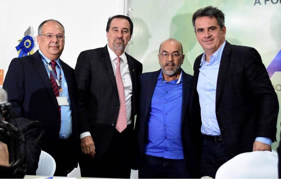 Solenidade da assinatura do contrato da Caixa e FFP (Foto: Jaílson Soares/O DIA)