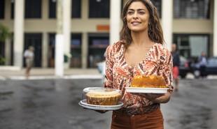 Juliana Paes é Maria da Paz, a protagonista de 'A dona do pedaço'. Nascida numa família de justiceiros do interior do Espírito Santo, ela fugirá para São Paulo depois de uma tragédia e passará a morar no Bixiga, onde vai abrir uma fábrica de bolos | Rede Globo / João Miguel