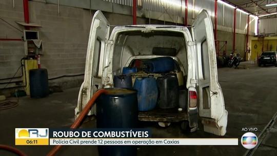 Polícia prende 18 suspeitos de furto de combustível na Baixada