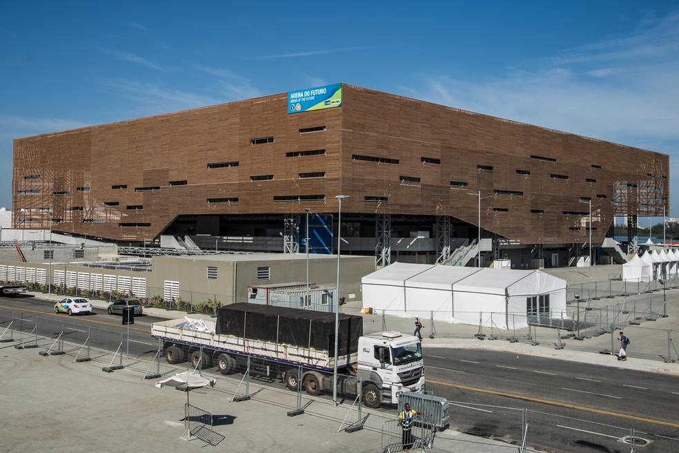 Arena do Futuro, que viraria escolas, mas ainda está no Parque Olímpico, não tem seguro (Foto: Renato Sette Camara/Prefeitura do Rio)