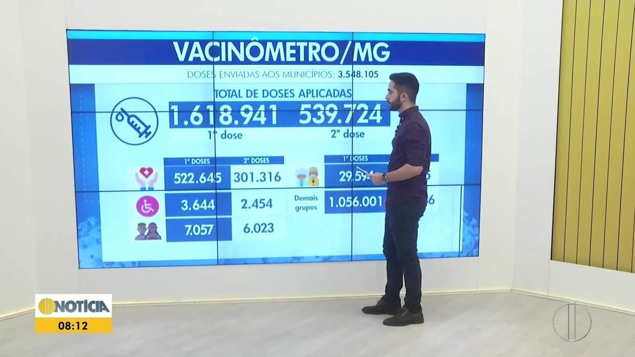 Minas Gerais recebe nova remessa com mais de 1 milhão de doses de vacina contra a Covid-19