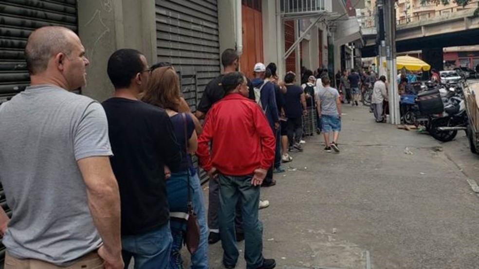 Em 2019, saltou o número de pessoas no Bom Prato que declararam não ter renda alguma — Foto: BBC Brasil